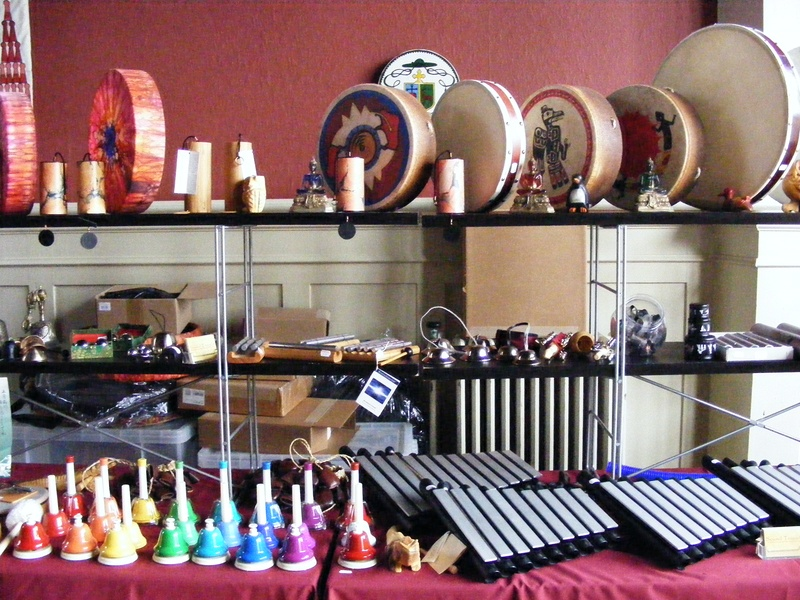 Instruments at Sound Travels stall